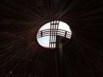 Εθνική παραδοσιακή διακόσμηση της οροφής και των τοίχων του μογγολικού Yurt Εκλεκτής ποιότητας σχέδια ύφανσης Η διακόσμηση του Yu απεικόνιση αποθεμάτων