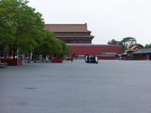 Εθνική σημαία-αυξάνοντας ομάδα, πλατεία Tiananmen, Πεκίνο Στοκ φωτογραφία με δικαίωμα ελεύθερης χρήσης