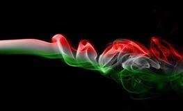 Εθνική σημαία καπνού της Ουγγαρίας Στοκ Φωτογραφίες