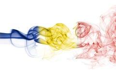 Εθνική σημαία καπνού της Ρουμανίας Στοκ Εικόνες