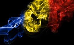 Εθνική σημαία καπνού της Ρουμανίας Στοκ Φωτογραφίες