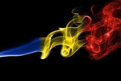 Εθνική σημαία καπνού της Ρουμανίας Στοκ εικόνα με δικαίωμα ελεύθερης χρήσης