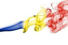 Εθνική σημαία καπνού της Ρουμανίας Στοκ εικόνες με δικαίωμα ελεύθερης χρήσης