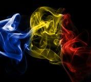 Εθνική σημαία καπνού της Ρουμανίας Στοκ φωτογραφία με δικαίωμα ελεύθερης χρήσης