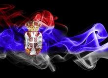 Εθνική σημαία καπνού της Σερβίας Στοκ εικόνα με δικαίωμα ελεύθερης χρήσης