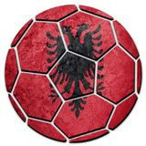 Εθνική σημαία της Αλβανίας σφαιρών ποδοσφαίρου Σφαίρα ποδοσφαίρου της Αλβανίας Στοκ Εικόνες