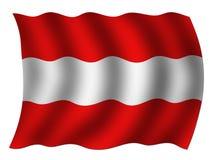 Εθνική σημαία της Αυστρίας Στοκ φωτογραφία με δικαίωμα ελεύθερης χρήσης
