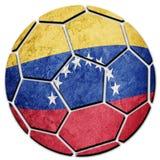 Εθνική σημαία της Βενεζουέλας σφαιρών ποδοσφαίρου Σφαίρα ποδοσφαίρου της Βενεζουέλας Στοκ Εικόνα