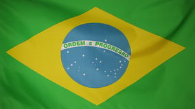 Εθνική σημαία της Βραζιλίας απόθεμα βίντεο