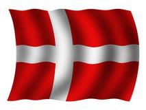 Εθνική σημαία της Δανίας Στοκ Φωτογραφία