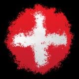 Εθνική σημαία της Ελβετίας Στοκ φωτογραφία με δικαίωμα ελεύθερης χρήσης