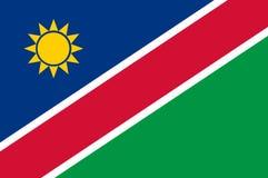 Εθνική σημαία της Ναμίμπια Υπόβαθρο με τη σημαία της Ναμίμπια ελεύθερη απεικόνιση δικαιώματος