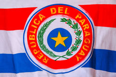 Εθνική σημαία της Παραγουάης Στοκ εικόνες με δικαίωμα ελεύθερης χρήσης