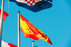 Εθνική σημαία της Πορτογαλίας που κυματίζει το ι Στοκ εικόνα με δικαίωμα ελεύθερης χρήσης