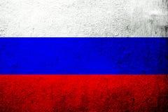 Εθνική σημαία της Ρωσικής Ομοσπονδίας Ρωσία Ανασκόπηση Grunge ελεύθερη απεικόνιση δικαιώματος