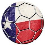 Εθνική σημαία της Χιλής σφαιρών ποδοσφαίρου Της Χιλής σφαίρα ποδοσφαίρου Στοκ Εικόνες