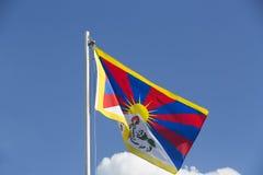 Εθνική σημαία του Θιβέτ σε ένα κοντάρι σημαίας Στοκ φωτογραφίες με δικαίωμα ελεύθερης χρήσης