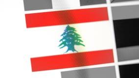 Εθνική σημαία του Λιβάνου της χώρας Σημαία του Λιβάνου στην επίδειξη, μια ψηφιακή moire επίδραση στοκ εικόνα με δικαίωμα ελεύθερης χρήσης