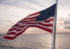 Εθνική σημαία των ΗΠΑ Στοκ εικόνα με δικαίωμα ελεύθερης χρήσης
