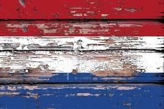 Εθνική σημαία των Κάτω Χωρών σε ένα ξύλινο υπόβαθρο στοκ φωτογραφία