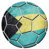 Εθνική σημαία των Μπαχαμών σφαιρών ποδοσφαίρου Σφαίρα ποδοσφαίρου των Μπαχαμών Στοκ Φωτογραφία