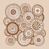 Εθνική henna διακόσμηση mehndi ινδικό ύφος Όμορφο floral υπόβαθρο τέχνης doodle Henna zentangle διακόσμηση Στοκ Φωτογραφίες