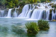 εθνικοί καταρράκτες πάρκων krka της Κροατίας Στοκ εικόνα με δικαίωμα ελεύθερης χρήσης