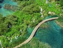 εθνικοί καταρράκτες plitvice πάρκων λιμνών Κροατία Στοκ εικόνες με δικαίωμα ελεύθερης χρήσης