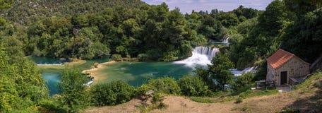 εθνικοί καταρράκτες plitvice πάρκων της Κροατίας εθνικό πάρκο krka της Κροατίας Στοκ Εικόνα