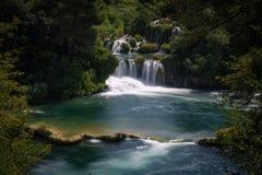 εθνικοί καταρράκτες plitvice πάρκων της Κροατίας εθνικό πάρκο krka της Κροατίας Στοκ Εικόνες