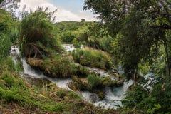 εθνικοί καταρράκτες plitvice πάρκων της Κροατίας εθνικό πάρκο krka της Κροατίας Στοκ Φωτογραφίες