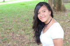 Εθνικός έφηβος με το διάστημα αντιγράφων στοκ εικόνα με δικαίωμα ελεύθερης χρήσης