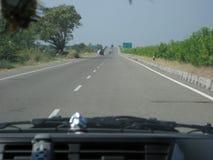 Εθνικός αυτοκινητόδρομος Ινδία στοκ εικόνα