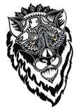 Εθνικός διαμορφωμένος περίκομψος προϊστάμενος του λιονταριού ελεύθερη απεικόνιση δικαιώματος