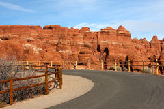εθνικός δρόμος Utah πάρκων αψί&delt Στοκ Εικόνες