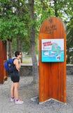 Εθνικός επισκέπτης πάρκων Banff Στοκ εικόνες με δικαίωμα ελεύθερης χρήσης