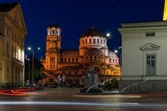Εθνικός καθεδρικός ναός συνελεύσεων και του Αλεξάνδρου Nevsky στη Sofia, Βουλγαρία Στοκ Εικόνες