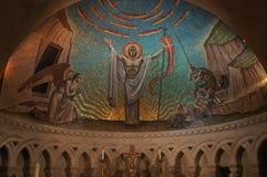 Εθνικός καθεδρικός ναός της Ουάσιγκτον - χρωματισμένος θόλος στοκ φωτογραφίες
