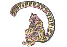Εθνικός παρακολουθημένος δαχτυλίδι κερκοπίθηκος απεικόνιση αποθεμάτων