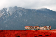 Εθνικός χορός Yunnan Στοκ φωτογραφία με δικαίωμα ελεύθερης χρήσης