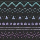 Εθνικό άνευ ραφής γεωμετρικό σχέδιο Στοκ Εικόνες