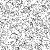 Εθνικό άνευ ραφής διανυσματικό σχέδιο λουλουδιών Στοκ Φωτογραφία