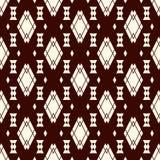 Εθνικό άνευ ραφής σχέδιο ύφους με τα επαναλαμβανόμενα διαμάντια Υπόβαθρο αμερικανών ιθαγενών Φυλετικό μοτίβο Εκλεκτική ταπετσαρία Στοκ Εικόνα