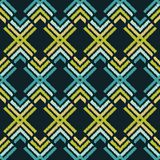 Εθνικό άνευ ραφής σχέδιο boho Εκκόλαψη χεριών διακόσμηση παραδοσιακή ανασκόπηση γεωμετρική Λαϊκό μοτίβο Στοκ Εικόνες