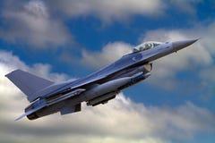 Εθνικό αεριωθούμενο αεροπλάνο φρουράς αέρα F-16 ΗΠΑ Στοκ φωτογραφίες με δικαίωμα ελεύθερης χρήσης