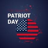 Εθνικό ΑΜΕΡΙΚΑΝΙΚΟΣ πατριώτης έμβλημα Ηνωμένων σημαιών ημέρας διανυσματική απεικόνιση