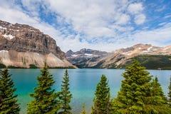 Εθνικό ασβέστιο Αλμπέρτα πάρκων Banff λιμνών τόξων Στοκ Εικόνα