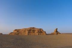 Εθνικό γεωλογικό πάρκο της Κίνας Dunhuang Yadan Στοκ Φωτογραφία