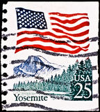 εθνικό γραμματόσημο πάρκων  Στοκ Εικόνες