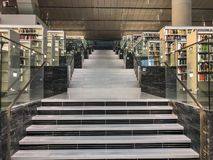 Εθνικό εσωτερικό βιβλιοθήκης του Κατάρ στοκ φωτογραφία με δικαίωμα ελεύθερης χρήσης